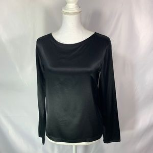 Theory Long Sleeve scoop Neck Blouse